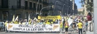Los taxistas tomarán este jueves las calles de Madrid contra las VTC