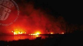 3,5 hectáreas de pasto calicinads por un incendio en el mar de Ontígola