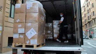 Delegación del Gobierno distribuye 1,8 M de máscarillas en los municipios
