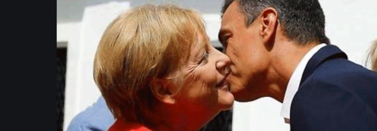 Sánchez y su gesto a Merkel: Un Gobierno con seis ministros menos