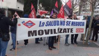 Los maquinistas en huelga de Metro denuncian