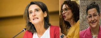 La vice Ribera, la portavoz Montero y la feminista Laya a Exteriores
