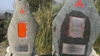 Denuncian un ataque al monumento de las Brigadas Internacionales
