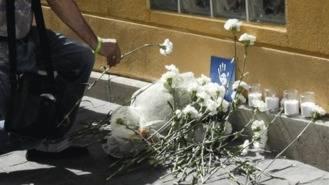 Aparece calcinada la ofrenda en homenaje a Miguel Angel Blanco