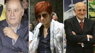 Amancio Ortega, su hija Sandra y Juan Roig, las mayores fortunas de España
