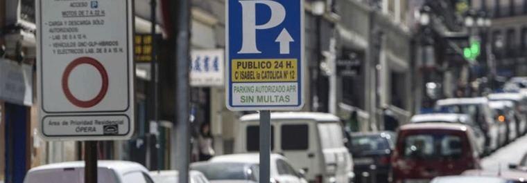 Detectan fallos en el sistema de anular las multas de los parkings de Madrid Central