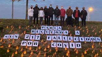 Retiran las banderas del PP a las víctimas del Covid por carecer de 'permisos'