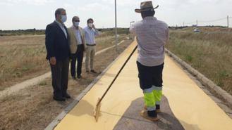Partida visita las obras de reparación de la senda ciclable de `Los Pocillos