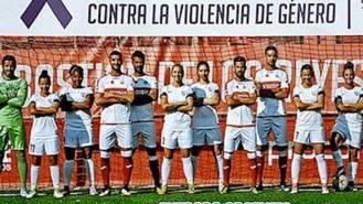 Femenino Madrid CFF y masculinos del `Sanse´ juegan contra la violencia de género