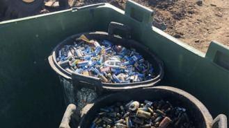 Un juez investiga el hallazgo de 800 kg de pilas en la dehesa de Valdemorillo