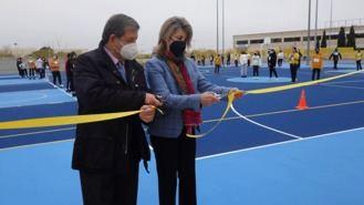 Inaugurada la nueva pista polideportiva del CEIPSO Padre Garralda