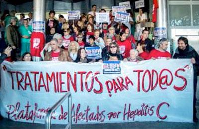 Afectados por la Hepatitis C se encerrarán en el 12 de Octubre