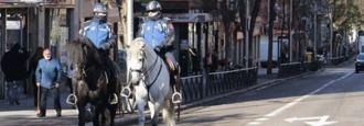 Policía a caballo para frenar las peleas, atracos y drogadicción en la Cuña Verde