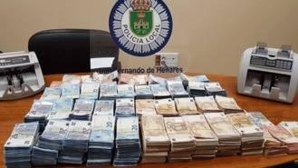La policía local de San Fernando incauta 500.000 € en un control rutinario