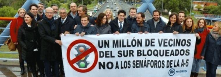 El PP bombardea a Carmena: Irá a los tribunales por los semáforos de la A-5