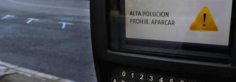 El fin de semana, prohibio aparcar en zona SER en Madrid