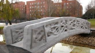 El primer puente peatonal del mundo en 3D, en un parque de Alcobendas