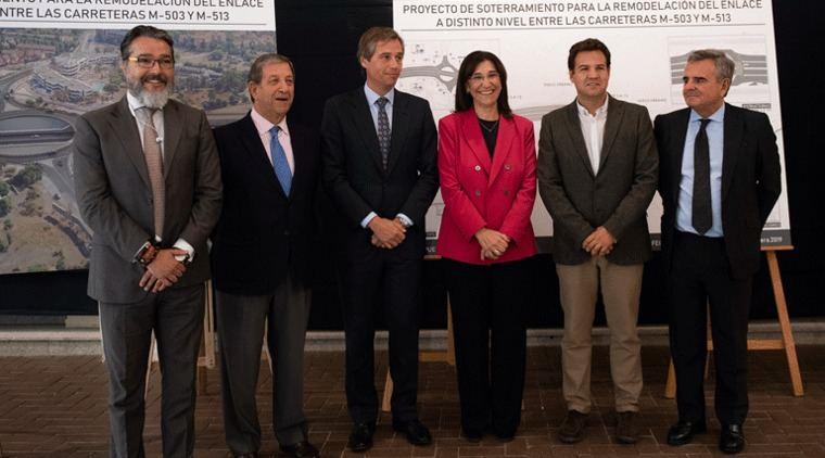 Los alcaldes del noroeste se citan en el inicio del soterramiento de la M-503