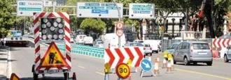 El túnel de la glorieta Carlos V cerrada al tráfico hasta el 26 de agosto