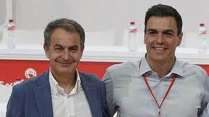 José Luis Rodríguez Zapatero y Pedro Sánchez.
