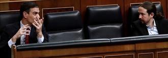 Sánchez e Iglesias, suspendidos en la crisis del Covid-19
