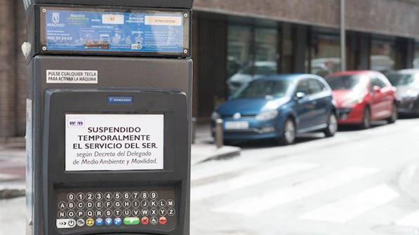 Madrid volverá a activar los parquímetros del SER desde el próximo lunes