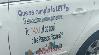 2.000 taxistas llevarán vinilos para pedir el voto para quienes les defienden