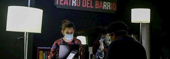 Teatro del Barrio se reconvierte en sede del banco de alimentos de Lavapiés