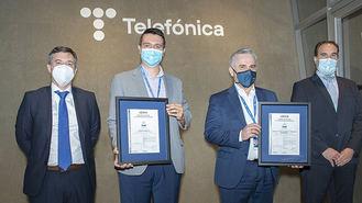 Telefónica España, empresa con más servicios certificados en el ENS por Aenor
