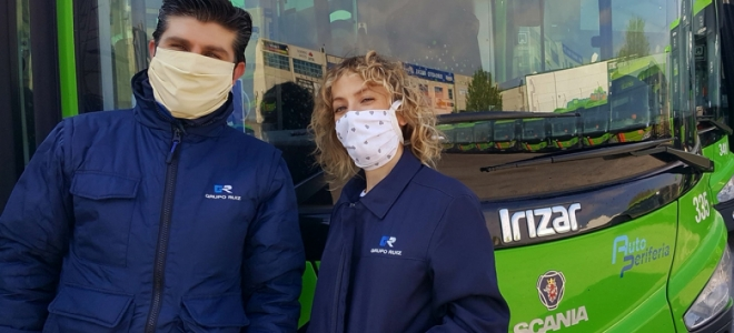 Vecinos confeccionan 200 mascarillas para los conductores de autobús