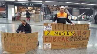 Un vigilante del Metro en huelga de hambre indefinida por el impago de la nómina
