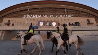 1.200 efectivos para el partido de alto riesgo Atleti-Sporting