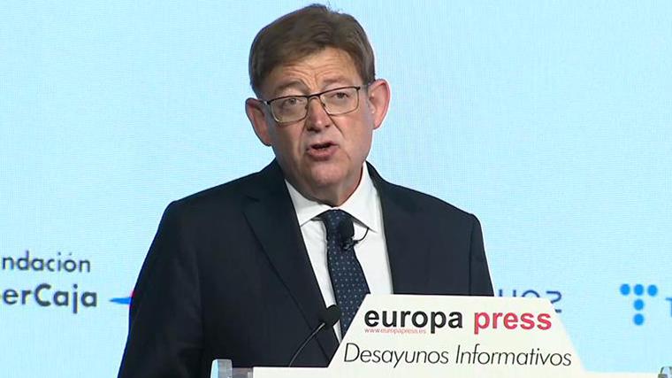 Puig carga contra el 'procés invisible' de Madrid y pide un impuesto específico para la Comunidad